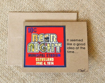 10 Cent Beer Night - It seemed like a good idea at the time - Greeting Card