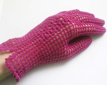 SALE Crochet  gloves handmade pink gloves spring accessory women accessory
