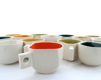Wood Grain Faceted Coffee Mug