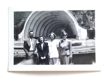 Vintage Hollywood Bowl Photograph in Black and White