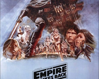 """Star Wars """"The Empire Strikes Back"""" Reproduction Stand-Up Movie Display - Version 2 - Collectibles Collection Collector Sci-Fi Gift Idea"""