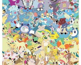 Pokepals Palooza of Pokemon Poster (8.5 x 11)