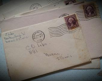 1930s Antique Nursing Student's Letters Home Handwritten Correspondence Lot Illinois | LAST ONES