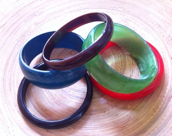 Assorted Vintage Bangles Destash Fun and Funky Plastic Bright