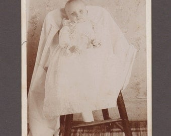 Sad Pre-Mortem Cabinet Card of a Young Child