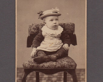 CDV of a Baby Wearing an Amusing Hat