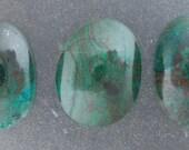 Malachite Chrysocolla Freeform Cabochon in a set of three