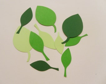 Paper Leaves Die Cuts in Your Chosen Color and Quantity Sizzix die cuts