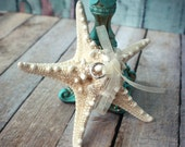 Starfish wedding ring holder-ring bearer-ring holder-ring pillow-alternative-starfish-beach-wedding-destination-bride-natical