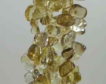 Lemon Smoky Quartz Nugget Beads 5mm - 20mm Strand
