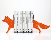 Bookends FREE SHIPPING - Reading Fox - laser cut for precision these metal bookends will hold your favorite books