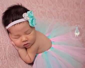 newborn tutu set, newborn photo prop, pastel tutu set, newborn tutu, photo prop, Baby tutu, first birthday tutu set, photography prop, tutu
