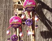 Leinenkugel Berry Weiss Dreamcatcher Earrings