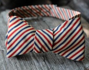 Men's Bow Tie- Patriotic Striped