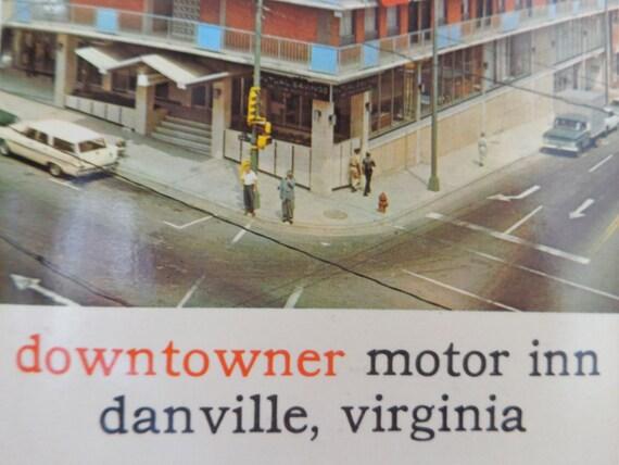 Downtowner postcard downtowner motor inn danville va for Wrights motors north danville il