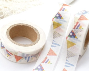 Colorful Birthday Banner Washi Tape - AA1177