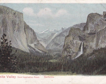 Vintage Antique Postcard - CALIFORNIA - YOSEMITE - Used