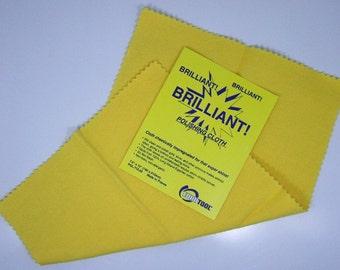 Brilliant Yellow Treated Polishing And Tarnish Removing Cloth