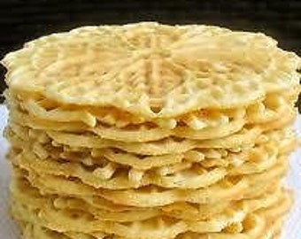 Pizzelle Cookies Hand Made to order 36 cookies holiday gifts Italian pizzelle cookies