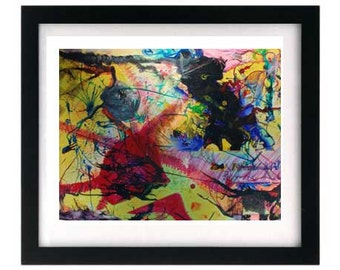11 x 8.5 Abstract Expressionism Giclée Art Print — FREE shipping