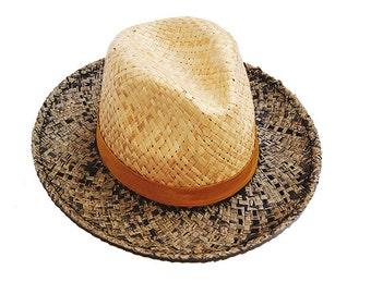 Men Straw Hat  , Womens Summer Hats , Straw Hat , Beach Hat , Fedora Juke y