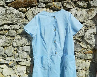 1940-50 cotton overall  French manufacturing