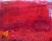 """SALE! Original modern abstract landscape acrylic painting """"Within the Light"""", 18"""" x 24"""" on canvas.  Wall art."""