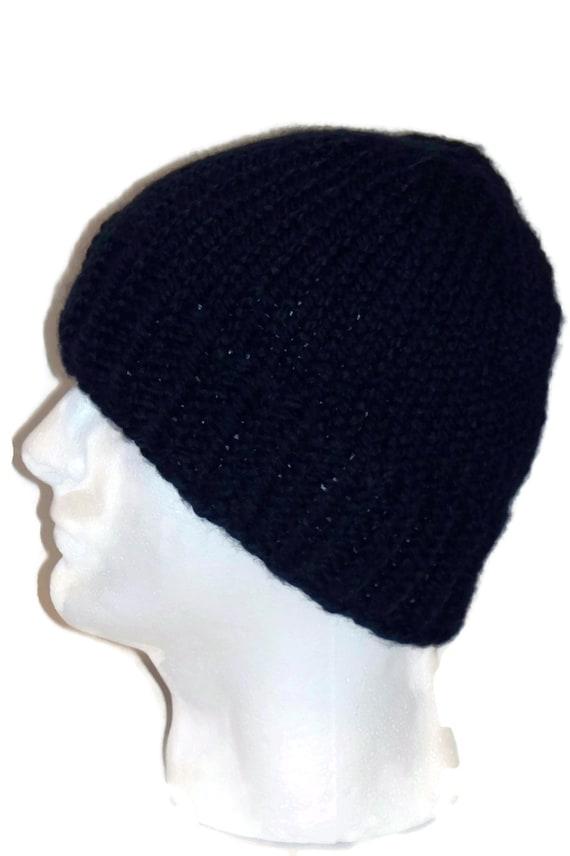 Warm Winter Beanie Hat  Navy Blue, Mens Hat