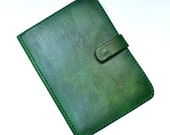 Green leather e-reader case, e-reader holder