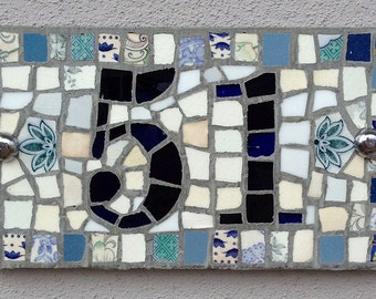 2 digit rectangular house number mosaic