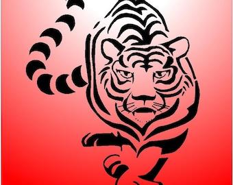 tiger  airbrush stencil