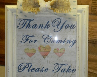 Thank you for coming frame for your wedding