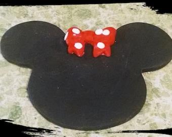 26 Edible gum paste Minnie Mouse gum paste/fondant cupcake topper