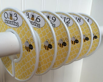 6 Baby Closet Dividers Girl Clothes Dividers Closet Organizers Baby Shower Gift Bees Baby Girl Nursery