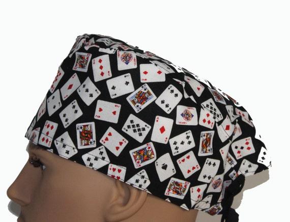 Surgical Scrub Cap - Playing Cards Scrub Hat - Surgical tech scrub cap - OR tech scrub hat - OR nurses gift