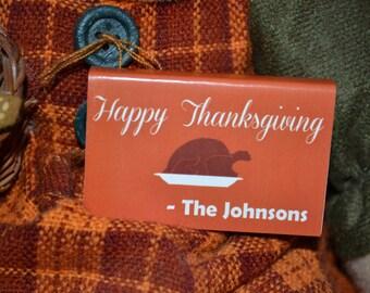 "50 Thanksgiving Matchbox Favors/Holiday Favor/Holiday/Favor/Favor/Matchbox Favor__""Thanksgiving"""