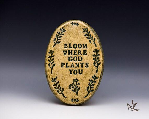 Encouragement/Acceptance Stoneware Plaque