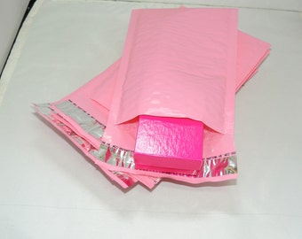 30 pack of Light Pink, Pastel Pink 6x9  bubble mailers, padded envelopes size 0