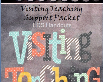 Visiting Teaching Support Packet- Visiting Teaching Lesson- Instructional Booklet- PDF Tutorial