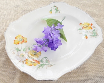 Alfred Meakin Serving Platter, 1930's Royal Marigold, Poppy Design - Tea Party, Cottage Style, Shabby Chic, Home Decor