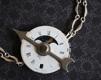 Hours of the Moon clock bracelet