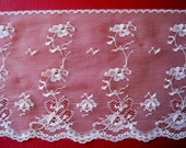 """Cream Extra Wide Lace, Cream, 5 7/8"""" inch wide, 1 Yard For Apparel, Home Decor, Accessories, Mixed Media, Scrapbook"""