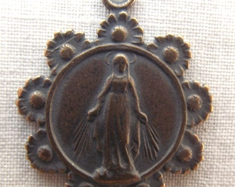 Bronze Blessed Virgin Mary Medal