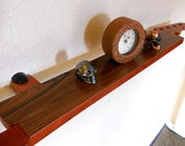 Memorabilia Display Shelf - Guitar Neck Bloodwood & Rosewood