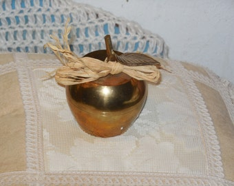 Brass Apple Bell, Teachers Gift or Friend, Apple, Collectiable Bell, Bell, Vintage Home Decor,   :)S