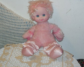 Wonder Whims  Raindrop Pink Fuzzy Plush Doll 80s Doug Debby Henning  :)S Not  Included in Discount Coupon Sale  S