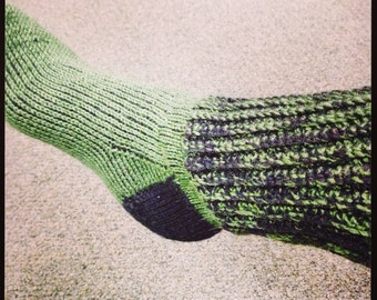 Best Tunisian Crochet Socks with Ribbed Cuff (PATTERN)