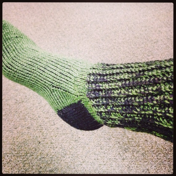 Best Tunisian Crochet Socks with Ribbed Cuff
