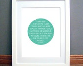 I Carry Your Heart Printable Wall Art, Circle Design, Mint Green, Love Quote, EE Cummings, Downloadable pdf