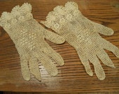 Crocheted Ladies Lacy Gloves...Great for a Wedding!